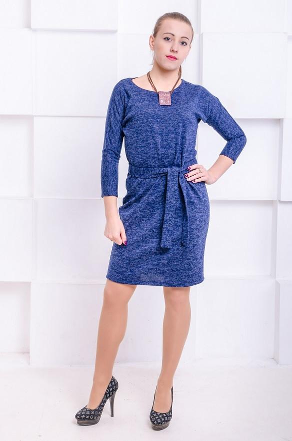 Платье с поясом Элеон джинс (44-50)
