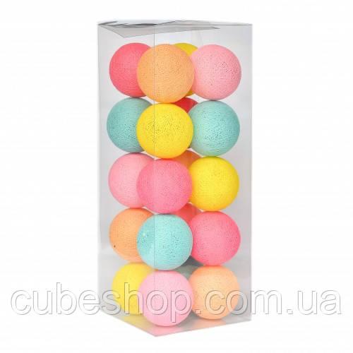 "Тайская LED-гирлянда ""Tutti Frutti"" (10 шариков) на батарейках"