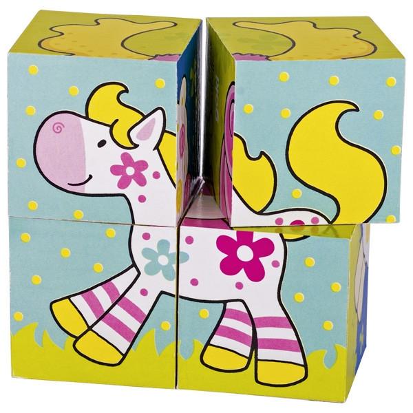 Goki Кубики деревянные Мои друзья Susibelle 57511