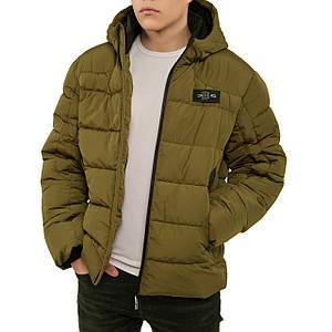 Чоловіча зимова куртка, тільки 54 розмір, теплий пуховик, модна коротка з капюшоном, біо пух