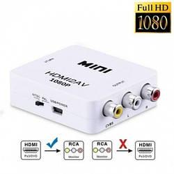 Адаптер HDMI to RCA AV перехідник конвертер 720p/1080p