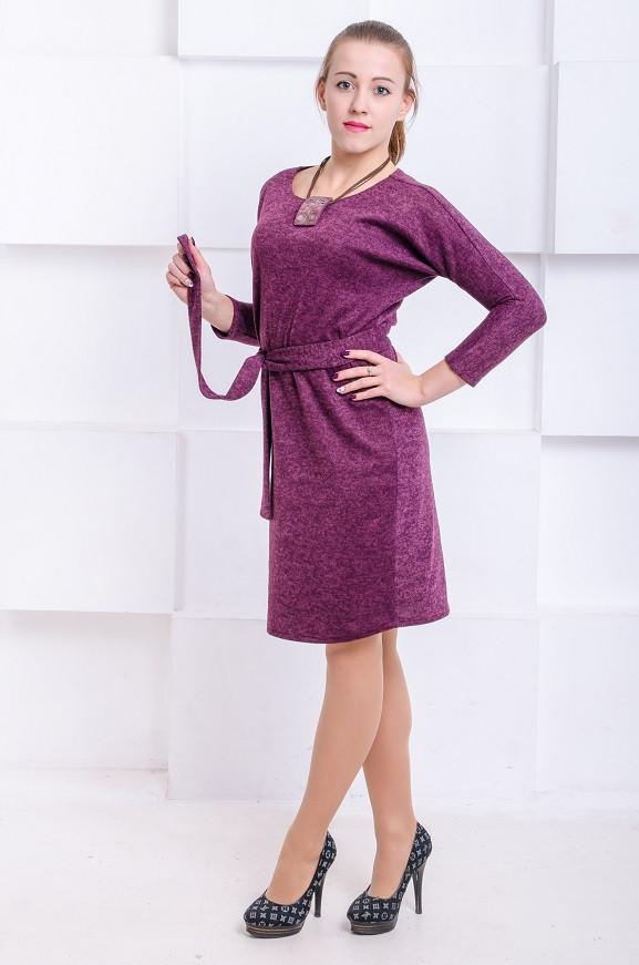 Платье с ангоры Элеон марсала (44-50)
