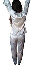 Пижама с кружевом, комплект из  атласа, фото 3