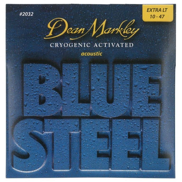 Струны для акустической гитары 2032 DeanMarkley (010-047) BlueSteel Acoustic X