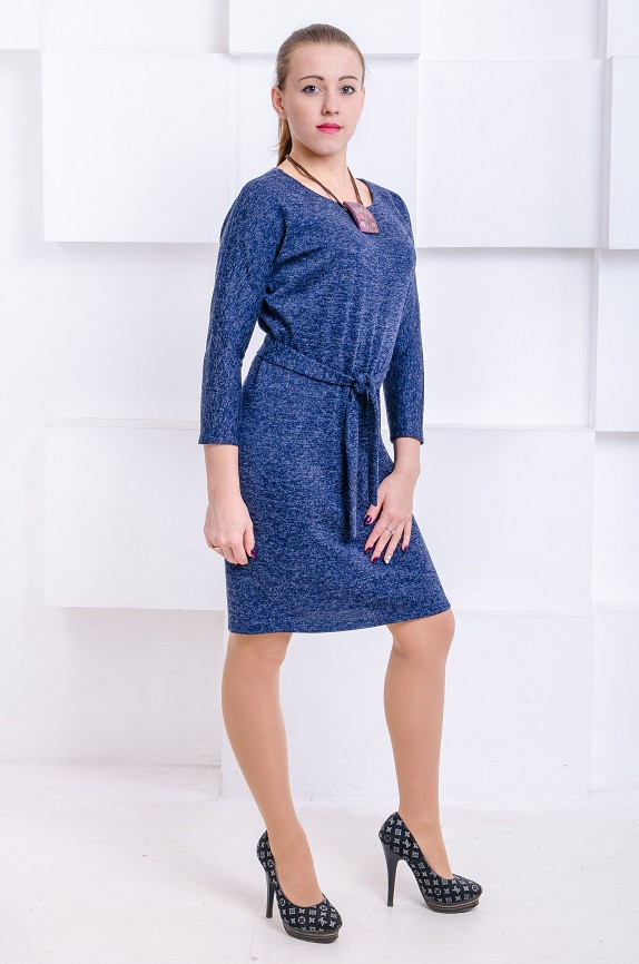 Платье с люрексом Элеон синее (44-46)