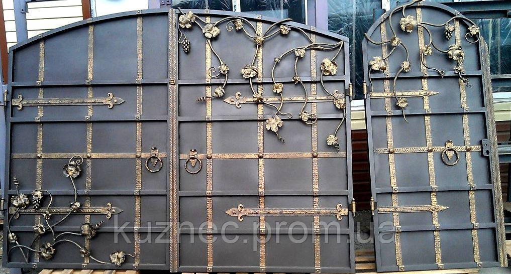 фото кованые элитные ворота