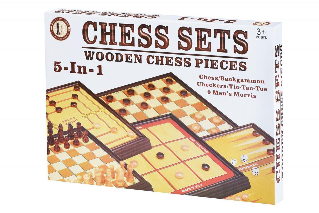 Настольная игра Same Toy Шахматы 5 в 1 520Ut