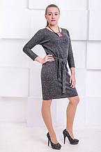 Платье с люрексом Элеон черный (44)