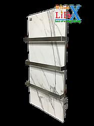 Керамический полотенцесушитель LIFEX ПСК600 (белый мрамор)