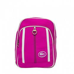 Рюкзак Lacoste double zip 38745 (Розмір: 30х27х17) Рожевий