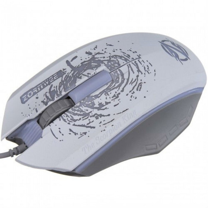 Мышка компьютерная проводная Pioneer XG73 с подсветкой мышь Белая