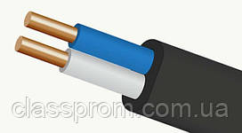 Кабель ВВГ пнг 2х1,5 плоский, медный, монолитный, не горючий Каблекс