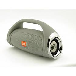Портативная FM MP3 колонка JBL Boombox mini bluetooth microSD/TF и USB Серая
