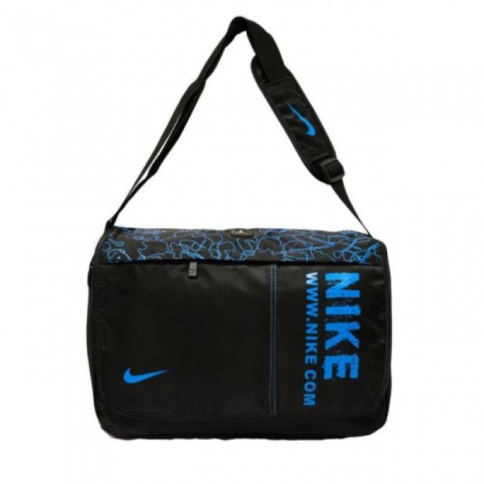 Сумка через плечо Nike 8936 3 Цвета (Размеры 34x27x8) Чёрный с Синим