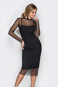 M, L / Вечернее платье в сеточку Mogren, черный
