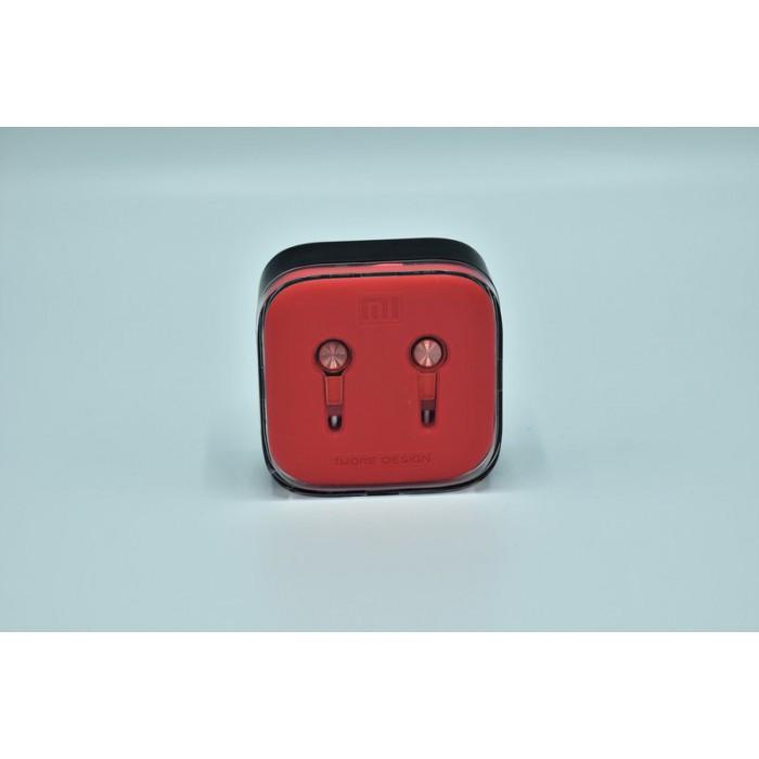 Вакуумные наушники гарнитура XIAOMI M5 Piston с микрофоном Красные
