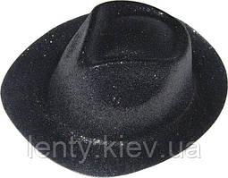 Карнавальні капелюхи (підліткові) Вечірка Блискітки Чорний (чорно-золотий стиль)