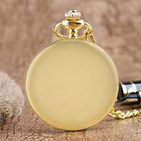 Мужские карманные часы на цепочке под золото
