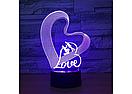 3D Светильник LOVE, фото 4