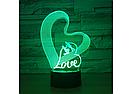 3D Светильник LOVE, фото 5