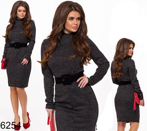 16c33cc6fed Купить Платье из ангоры с длинным рукавом (черный) 826254 Украина ...