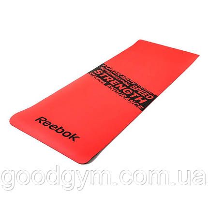 "Мат для фитнеса Reebok ""Strength"" RAMT-11024RDS красный, фото 2"