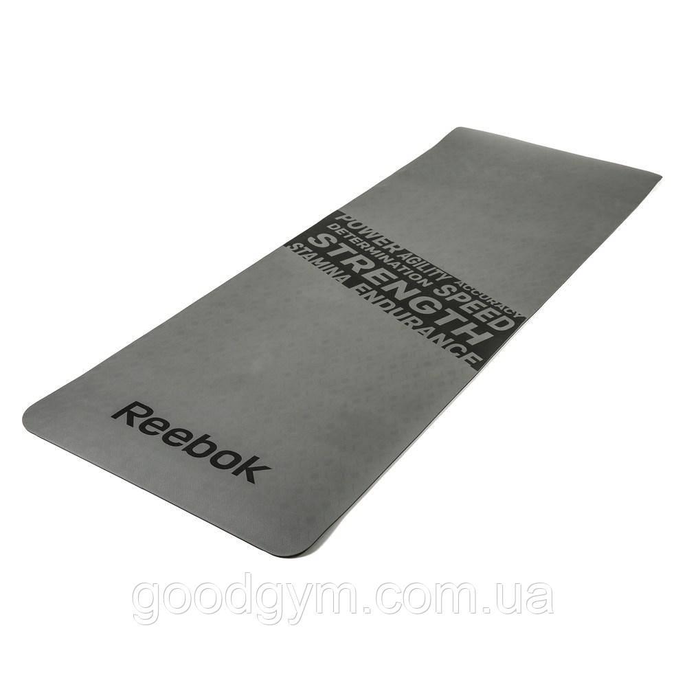 """Мат для фитнеса Reebok """"Strength"""" RAMT-11024GRS серый"""