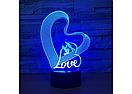 3D Светильник LOVE, фото 3