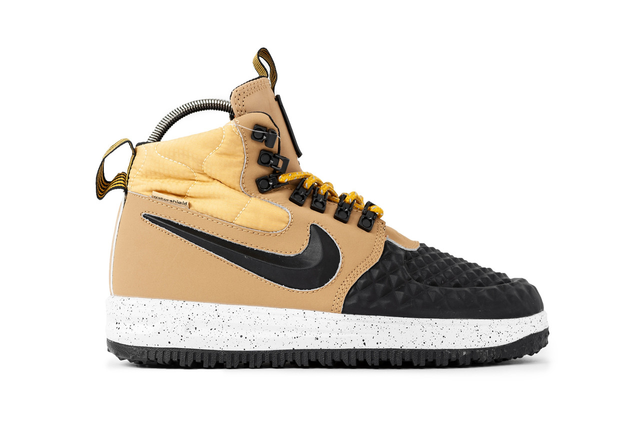 fa7e7e4ea524 Мужские зимние кроссовки Nike Lunar Force 1 Duckboot 17 Black/Brown (Реплика  Люкс)