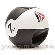 Медбол Reebok Double Grip Med Ball RSB-16127 - 7 кг, фото 3