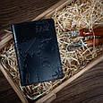 """Обложка для паспорта кожаная с художественным тиснением Shabby """"7 чудес света"""". Цвет черный, фото 5"""
