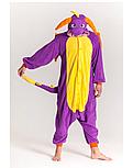 Кигуруми фиолетовый дракон (взрослый) krd0075, фото 2