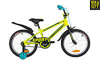 """Детский велосипед 18"""" FORMULA SPORT 2019 с боковыми колесами"""