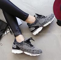 """Стильные женские кроссовки """"твид"""" (размер 38)"""