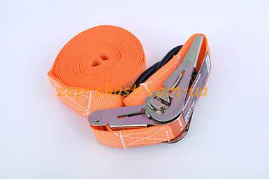 Ремень стяжной с натяжным механизмом 500кг, оранжевый   LAVITA