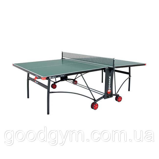Стол теннисный Sponeta S3-86е white/black