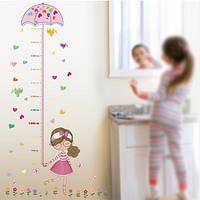 Интерьерная наклейка для измерения роста ребенка