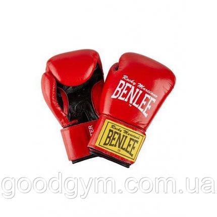 Боксерские перчатки BENLEE Fighter 10 ун. (194006/2514) Красный/Черный, фото 2