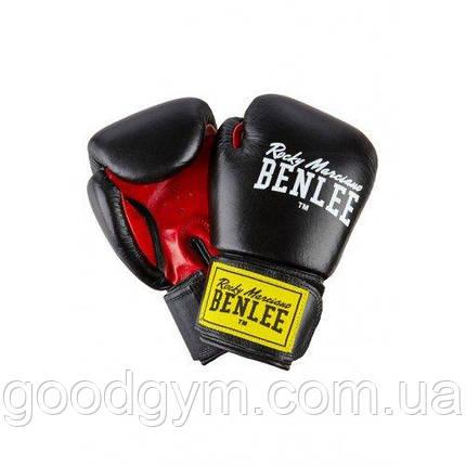 Боксерские перчатки BENLEE Fighter 12 ун. (194006/1503) Черный/Красный, фото 2