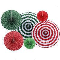 Набор подвесных декоративных вееров  из плотной бумаги  6 шт