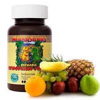 Пробиотики для детей жевательные таблетки со вкусом апельсина Бифидозаврики NSP для восстановления микрофлоры, фото 1