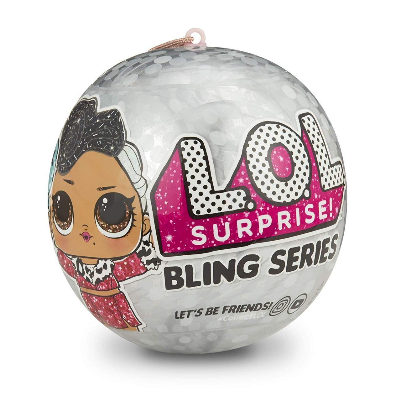 Кукла ЛОЛ Блинг Новогодний Оригинал L.O.L. Surprise! Bling Series with 7 Surprises