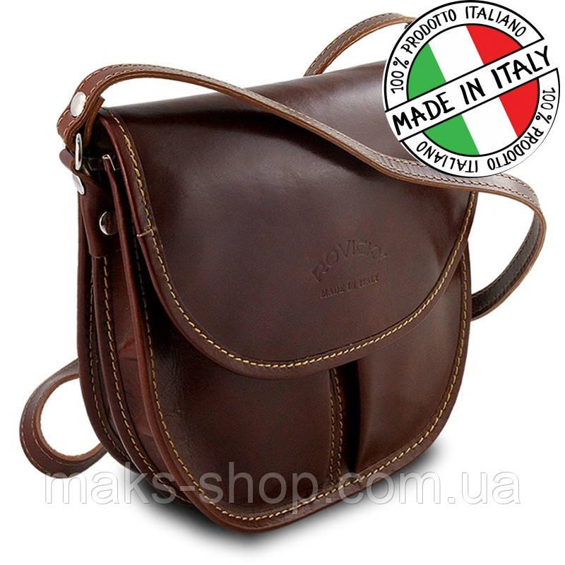 aa6dc17d075b Женская кожаная сумка через плечо (Италия)Rovicky TWR-22 темно-коричневый