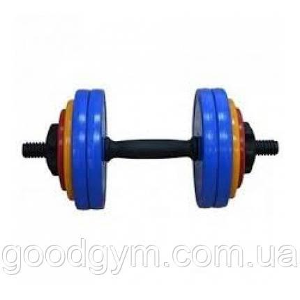 Гантель разборная InterAtletika по 15 кг (комплект 2 шт), фото 2