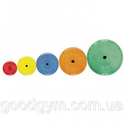 Диск InterAtletika SТ521.5 цветной 10 кг, фото 2