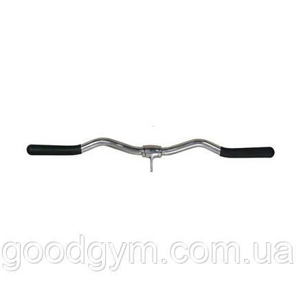 Ручка для тяги InterAtletika E5-02-M W-образная, вращающаяся, 71см, фото 2