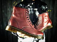Женские зимние ботинки Dr.Martens (в стиле Dr.Martens) коричневые ae3bc300fcac3