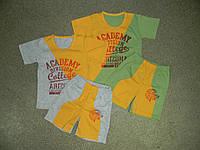 118 К-кт д/м (шорты и футболка) с накатом, кулир пенье, р.30