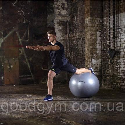 Гимнастический мяч Reebok RAB-11017GR 75 см серый, фото 2