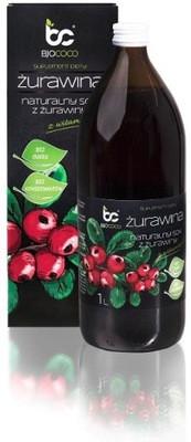 Натуральный клюквенный сок 1л